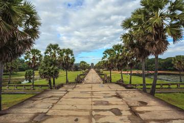 Walkway in Angkor Wat Temple, Siem Reap, Cambodia
