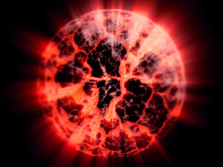 collapsed planet lava shine