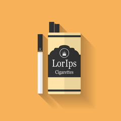 Icon of cigarette pack. Flat style