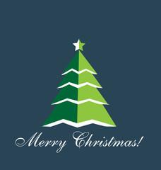 Christmas Tree greetings card vector design
