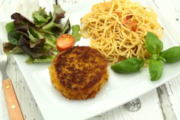 cordon bleu et spaghetti