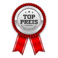 Silber Top Preis Siegel Mit Roter Scherpe