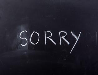 word sorry on blackboard