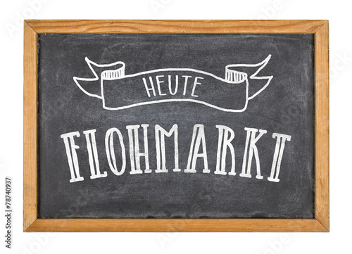 schild mit der beschriftung heute flohmarkt stockfotos und lizenzfreie bilder auf. Black Bedroom Furniture Sets. Home Design Ideas