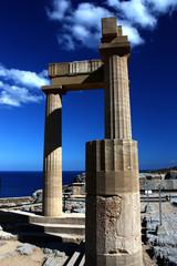 Rhodos Griechenland Lindos Akropolis Säulen