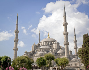 The wolrd famous Blue mosque in Istanbul