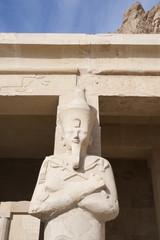 Estatua de Osiris en el Templo de Hatshepsut, Egipto.