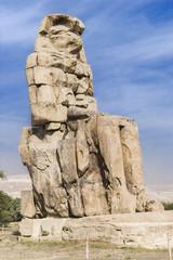 Uno de los Colosos de Memnón, Egipto.