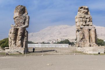 Los Colosos de Memnon, Egipto.