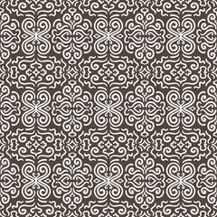 White fantasy contrast seamless pattern background