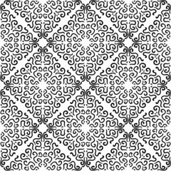 Black curly graphic pattern on white background