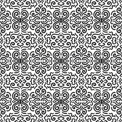 Black fantasy seamless pattern background