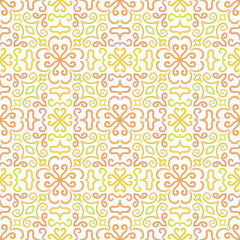 Colorful graphic flower pattern on white