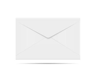Envelope on white background.