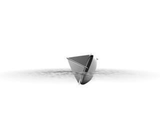 Abstracte zinkende boot