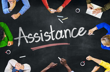 Multi-Ethnic Group of People and Assistance Concept