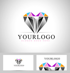 Diamond Logo Design. Vector design logo with diamond