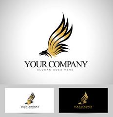 Eagle Logo Vector. Creative abstract logo of an eagle