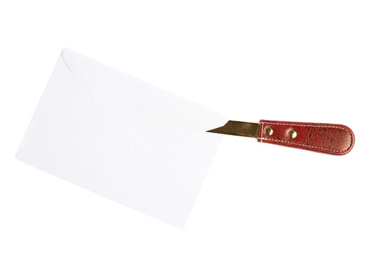 Opening letter with a special knife
