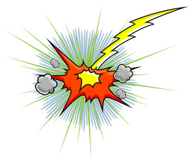 Comic Explosion Vector Graphic