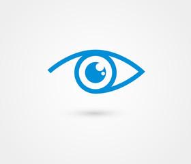 Eye vector logo design template
