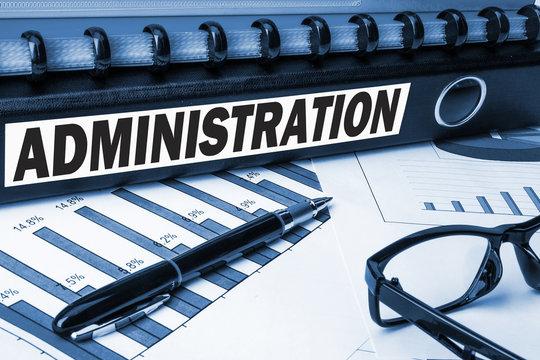 administration label on document folder