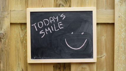 Today's smile written