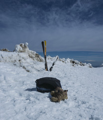 skis shoes bag
