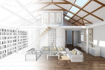 Raumplaner für Wohnzimmer im Haus