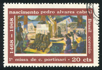 First Mass celebrated in Brazil Pedro Alvares Cabral
