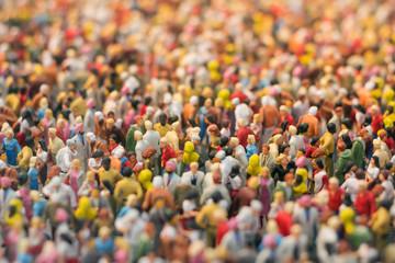 Menschenmengen-Miniatur