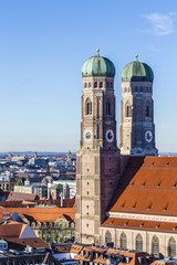 Foto op Plexiglas Panoramafoto s The Frauenkirche is a church in the Bavarian city of Munich