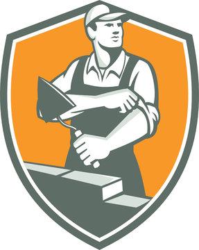 Tiler Plasterer Mason Trowel Shield Retro