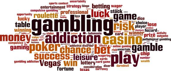 Gambling word cloud concept. Vector illustration
