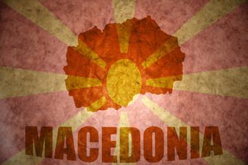 vintage macedonia map