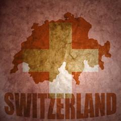 vintage switzerland map