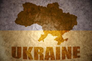 vintage ukraine map