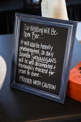 open bar wedding sign idea