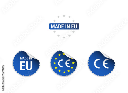 Wonderbaarlijk Made in EU CE Mark Stickers