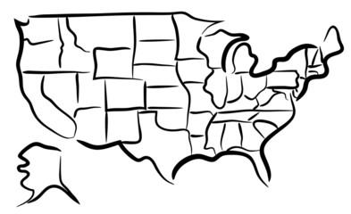 USA sketch map