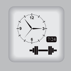 barbell, gym, open, icon, vector, illustration