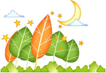 초승달과 가을