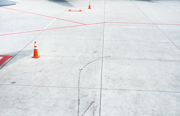 landing strip in airport