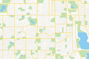 streets on the plan - vector city Fotomurales