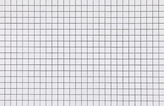 White mosaic tiles wall pattern background