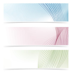 Web banner colorful flyers collection - headers or footers
