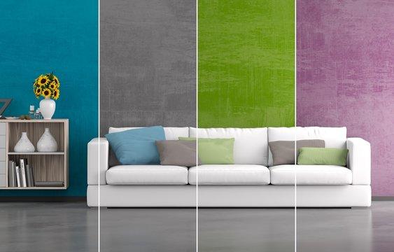 Collage Wohnraumfarben