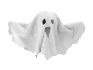 The Ghost isolated on white background