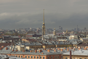 St. Petersburg. View of the city from the top point. Russia.