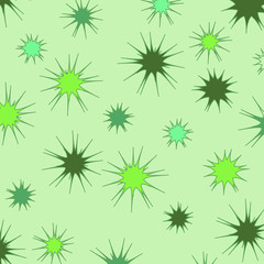 spiny green background